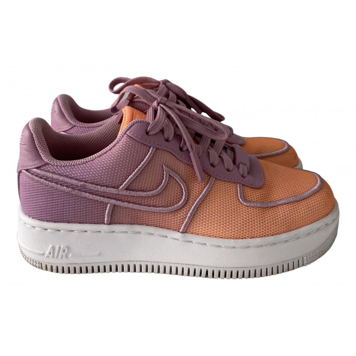 Nike Air Force 1 Sneakers in  Bunt Leinen