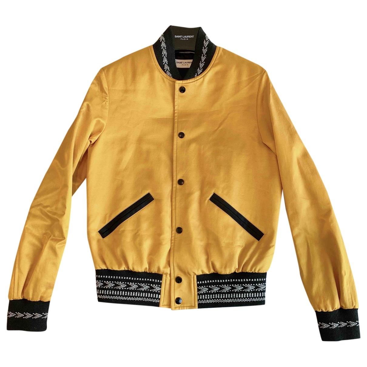 Saint Laurent - Veste   pour femme en coton - jaune