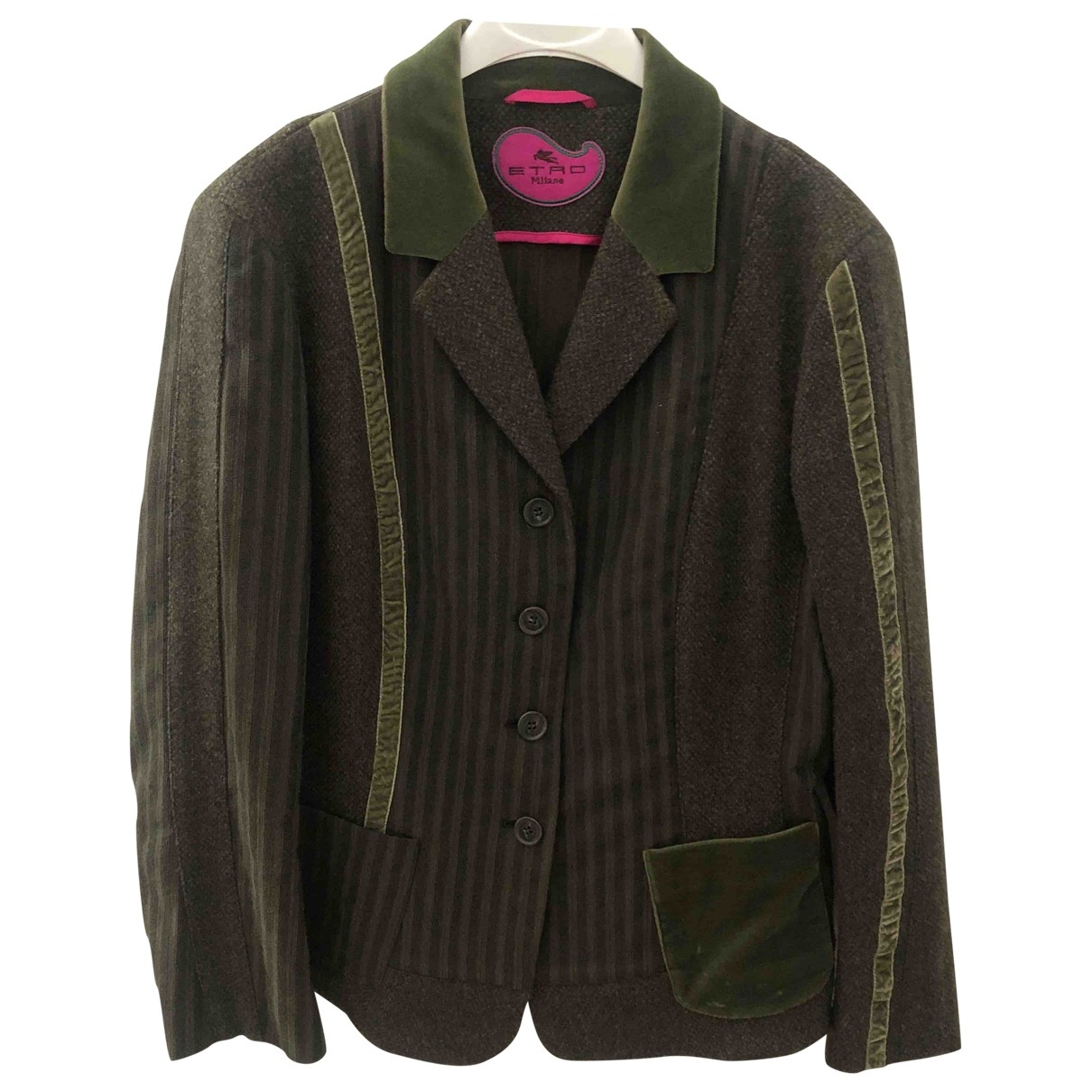 Etro \N Khaki Wool jacket for Women 48 IT