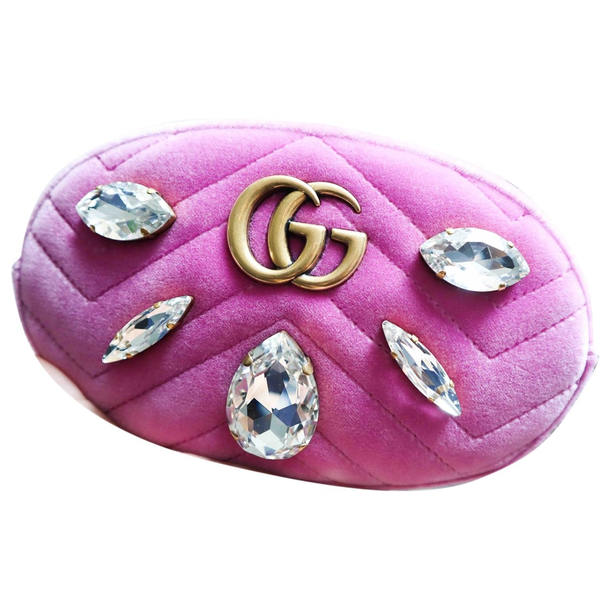 Gucci Marmont Pink Velvet Clutch bag for Women \N