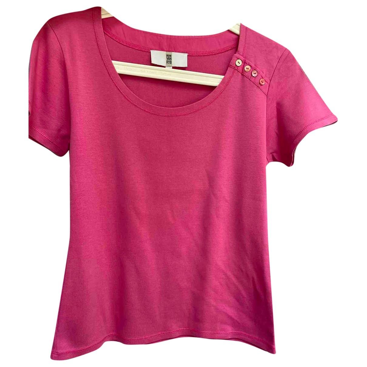 Irene Van Ryb - Top   pour femme en coton - rose