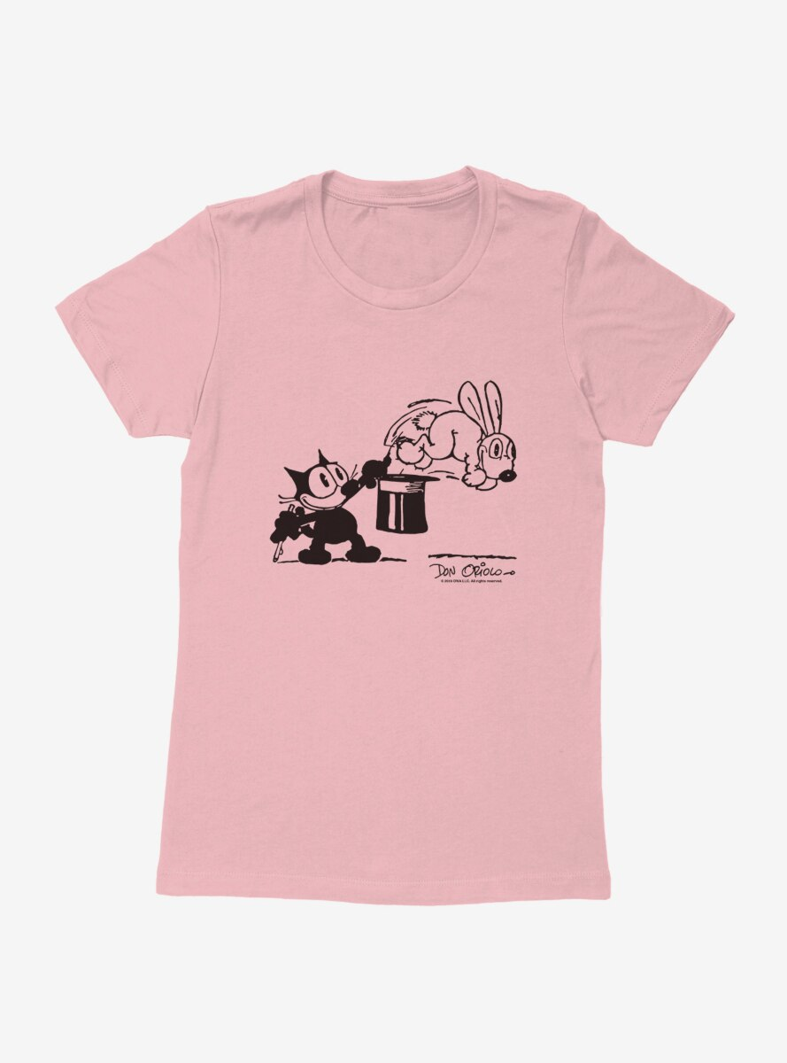 Felix The Cat Bunny Hat Trick Womens T-Shirt