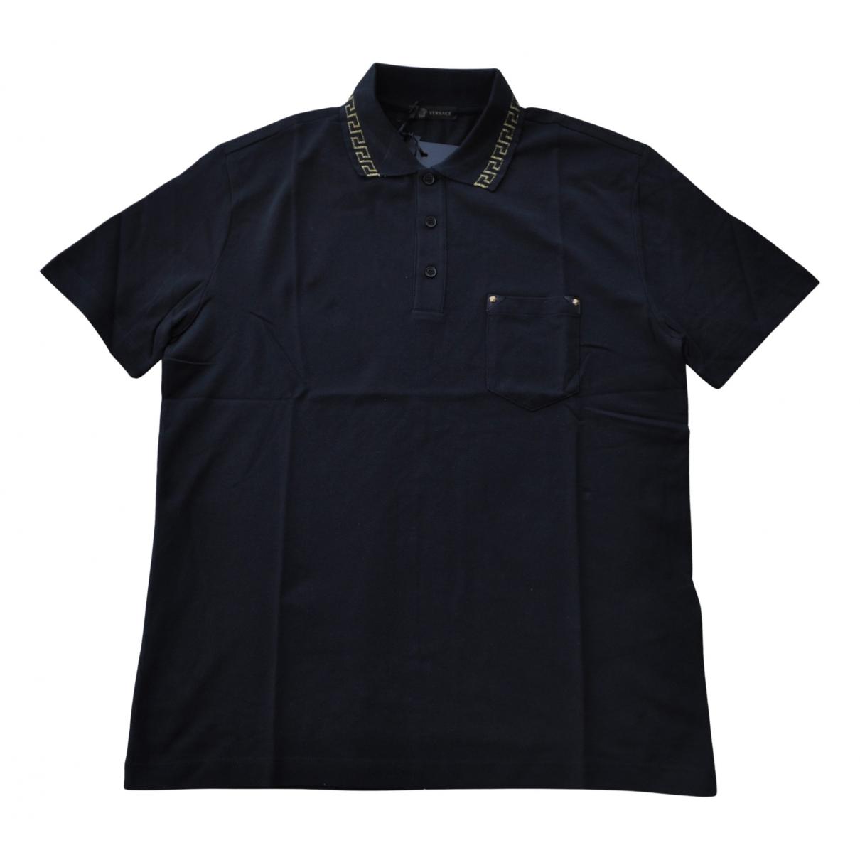 Polo en Algodon Negro Versace