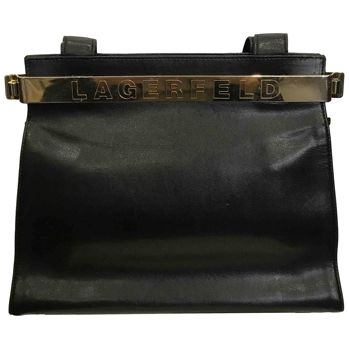 Karl Lagerfeld - Sac a main   pour femme en cuir - noir