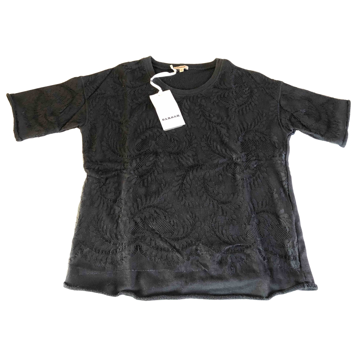 Parosh - Pull   pour femme en coton - noir