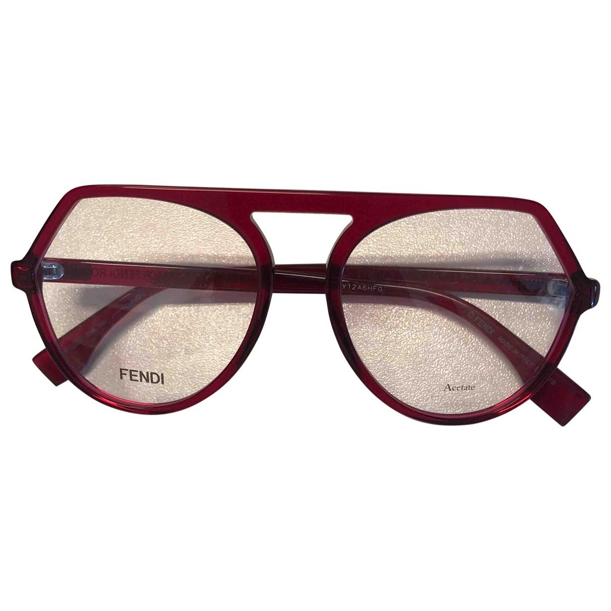Fendi \N Sonnenbrillen in  Rot Kunststoff