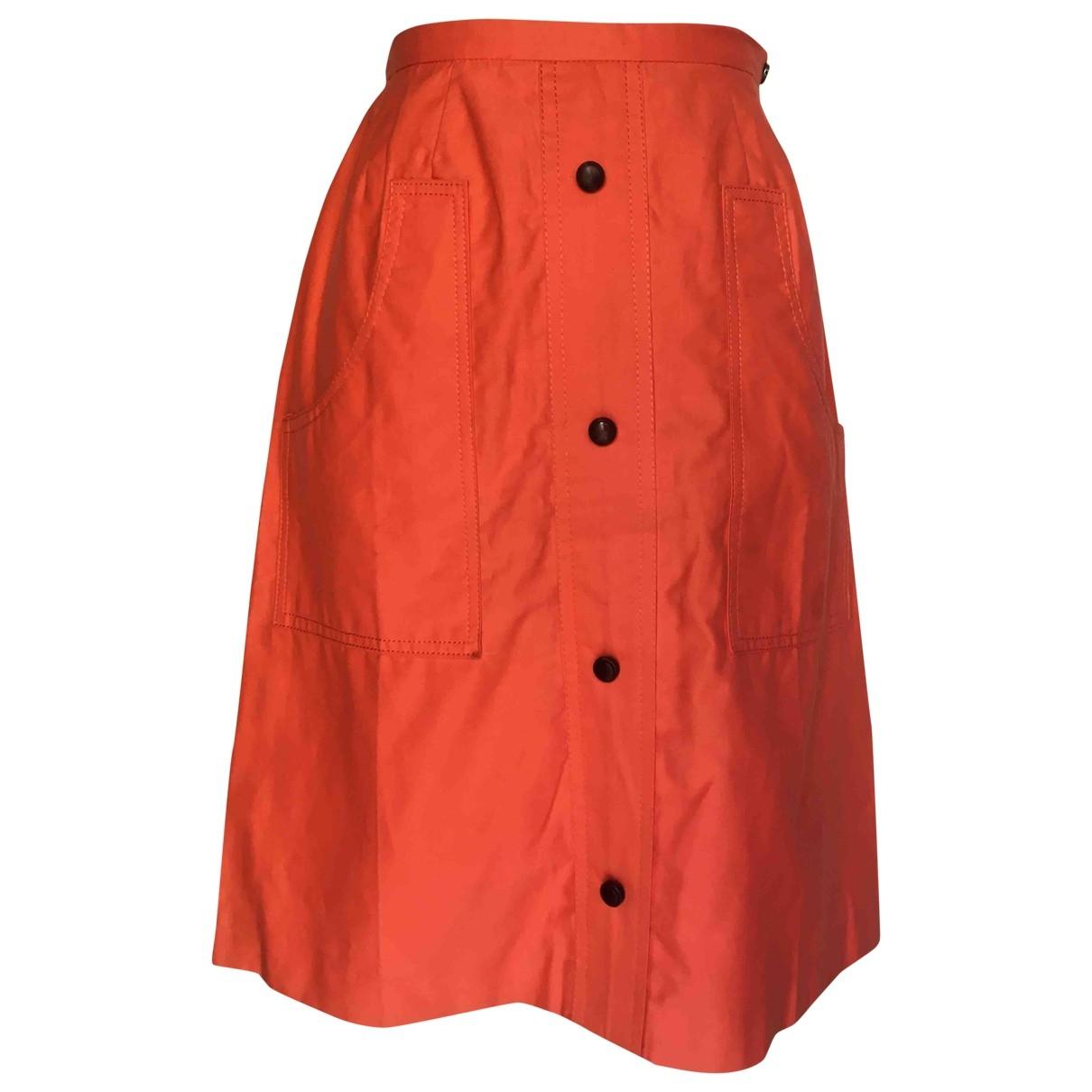 Non Signe / Unsigned \N Rocke in  Orange Baumwolle
