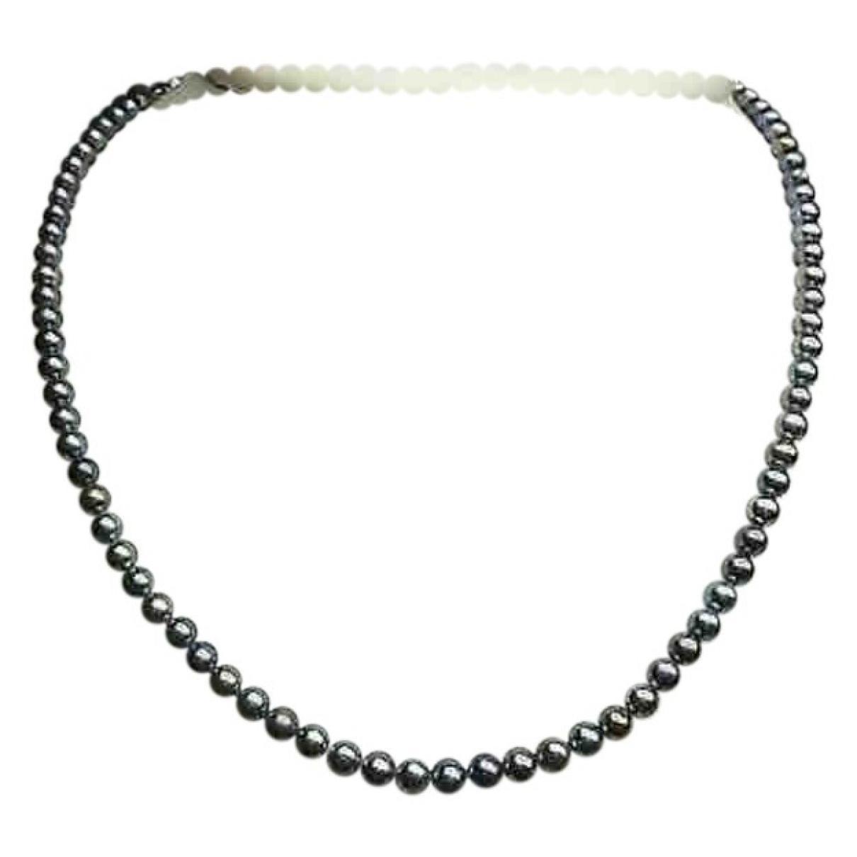 - Collier Nacre pour femme en perles - gris