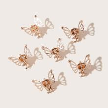 Peine con diseño de mariposa 6 piezas