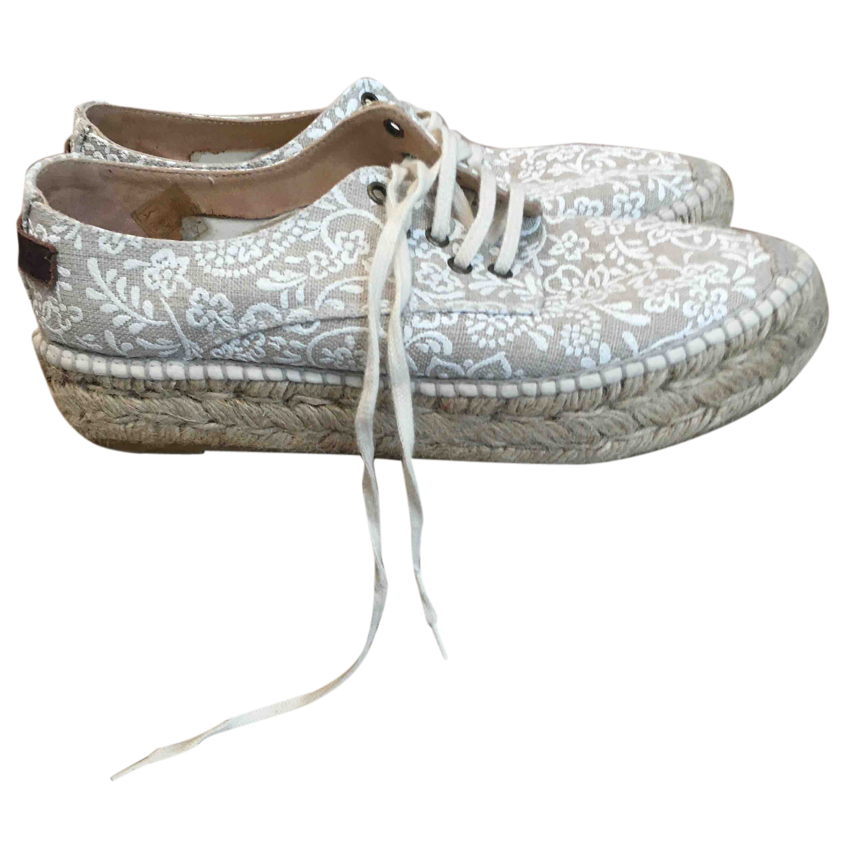 Non Signé / Unsigned N Beige Cloth Espadrilles for Women 36.5 EU