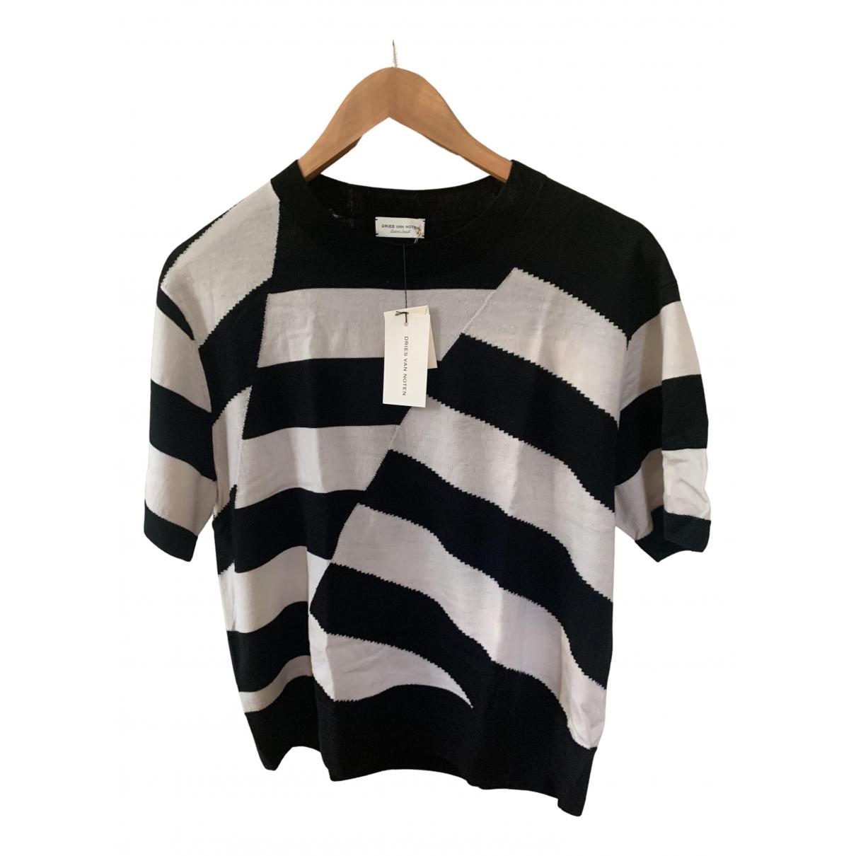 Dries Van Noten - Top   pour femme en laine - noir