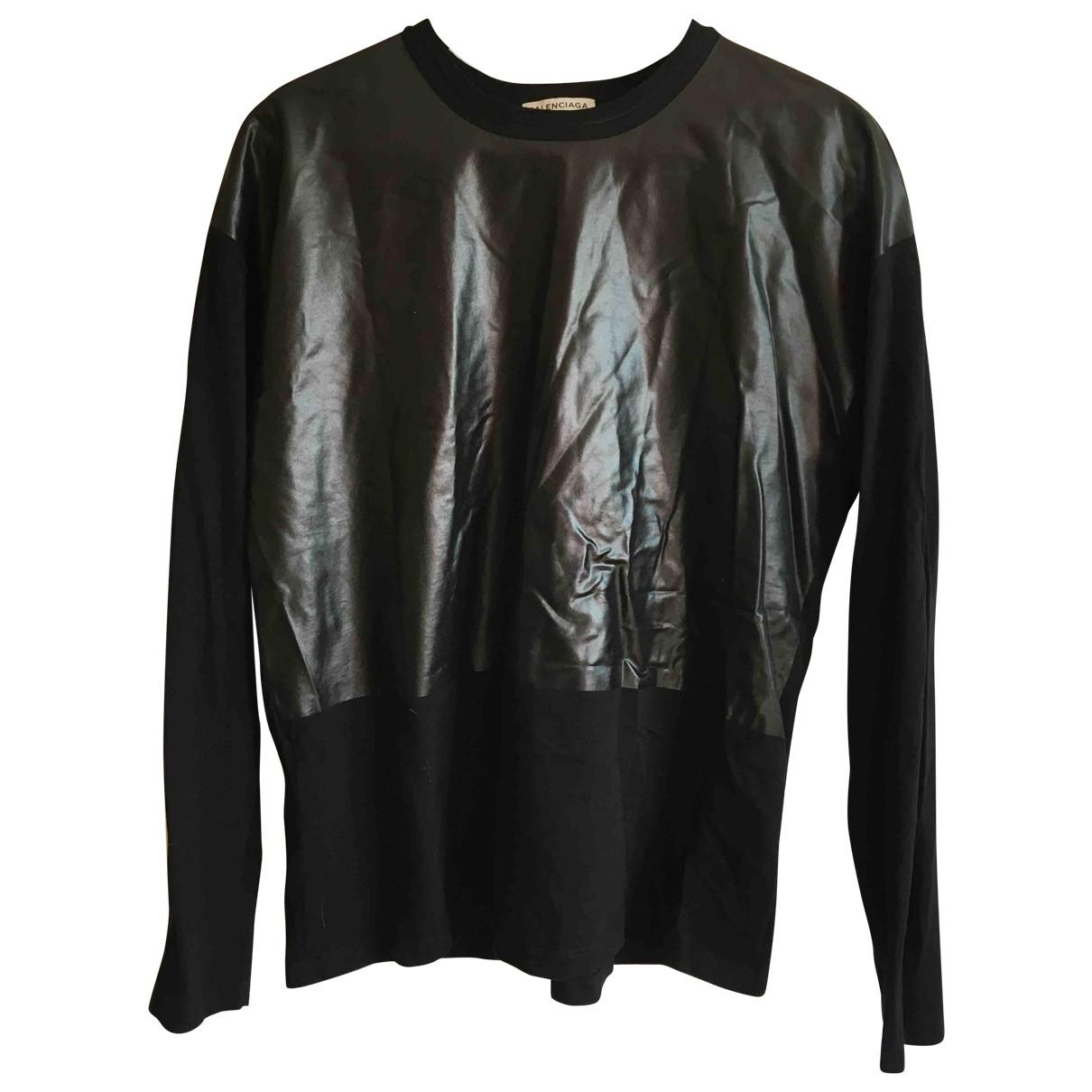 Balenciaga \N T-Shirts in  Schwarz Baumwolle