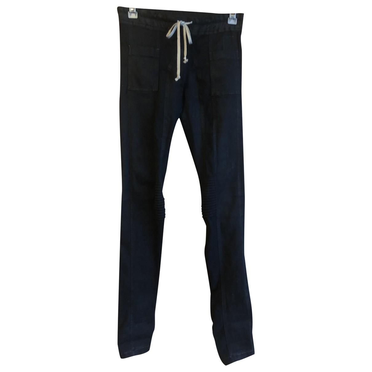Rick Owens \N Black Cotton Trousers for Women M International