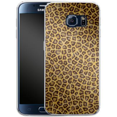 Samsung Galaxy S6 Silikon Handyhuelle - Leopard Skin von caseable Designs