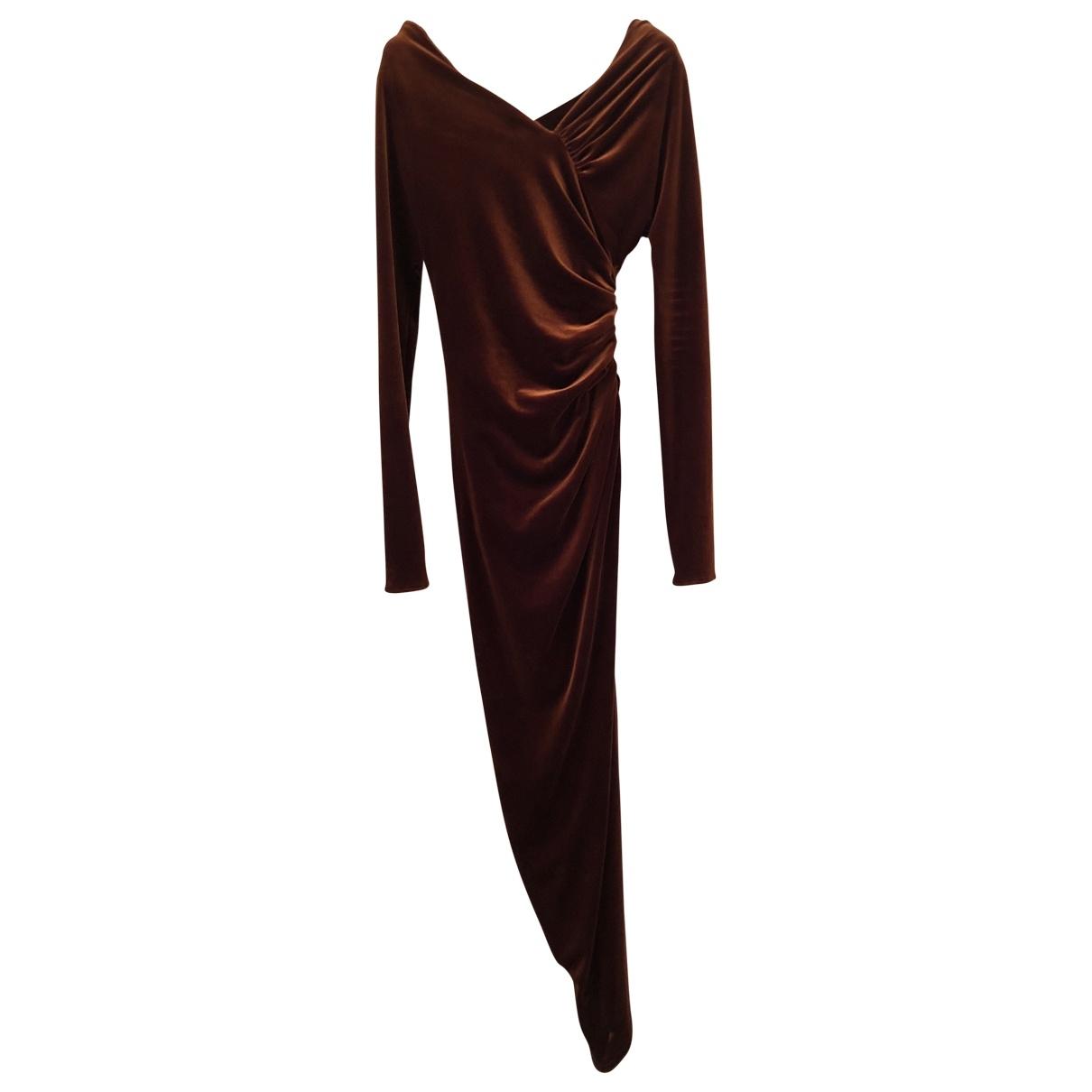 Maxi vestido de Terciopelo Alexandre Vauthier
