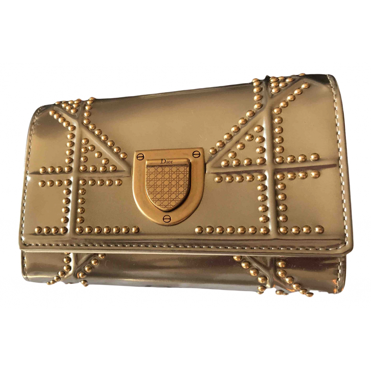 Dior Diorama Gold Leather wallet for Women N