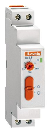 Lovato SPNO Time Delay Relay - 0.5 → 20 min, 1 Contacts, Staircase Time Relay, DIN Rail
