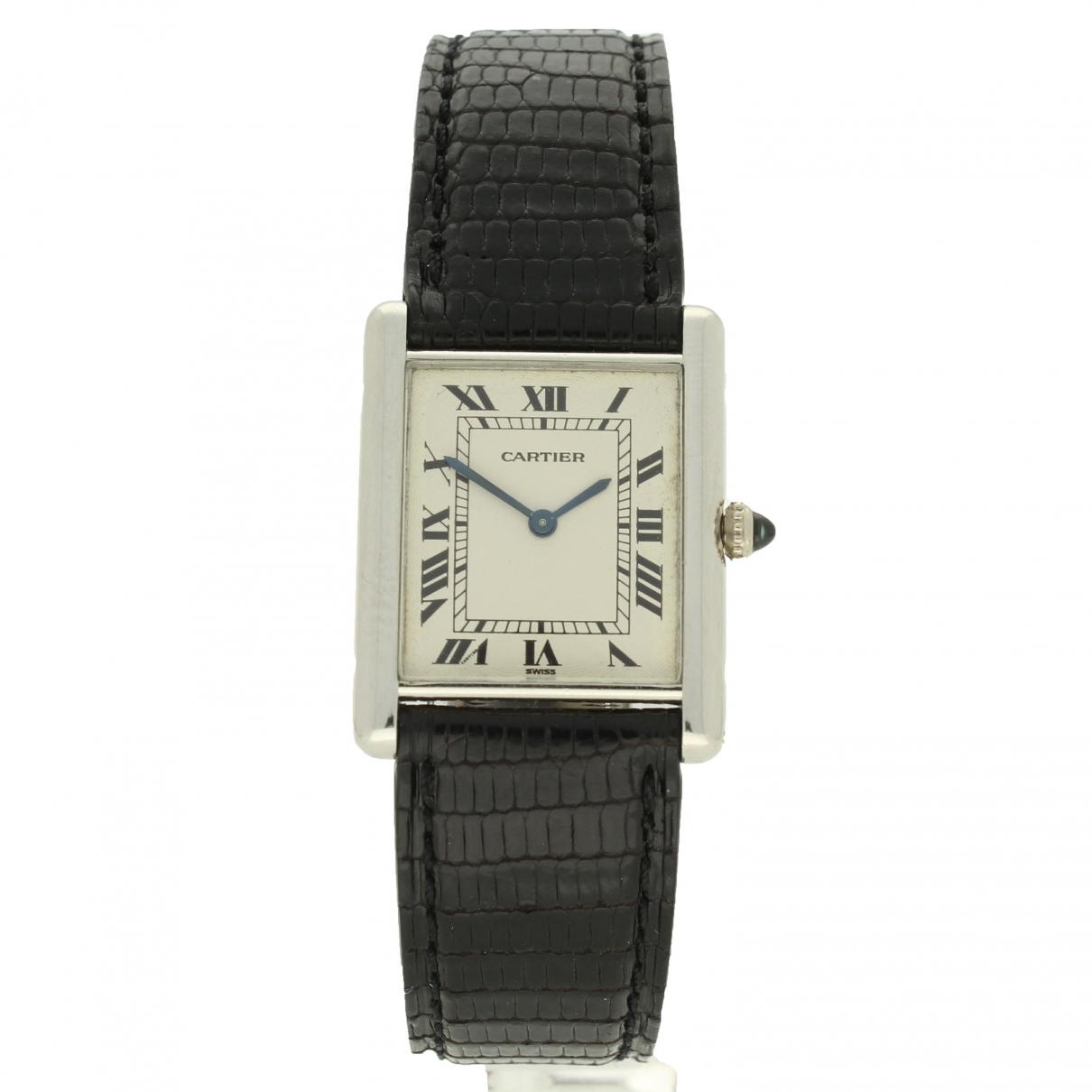 Cartier Tank Louis Cartier Uhr in  Weiss Platin