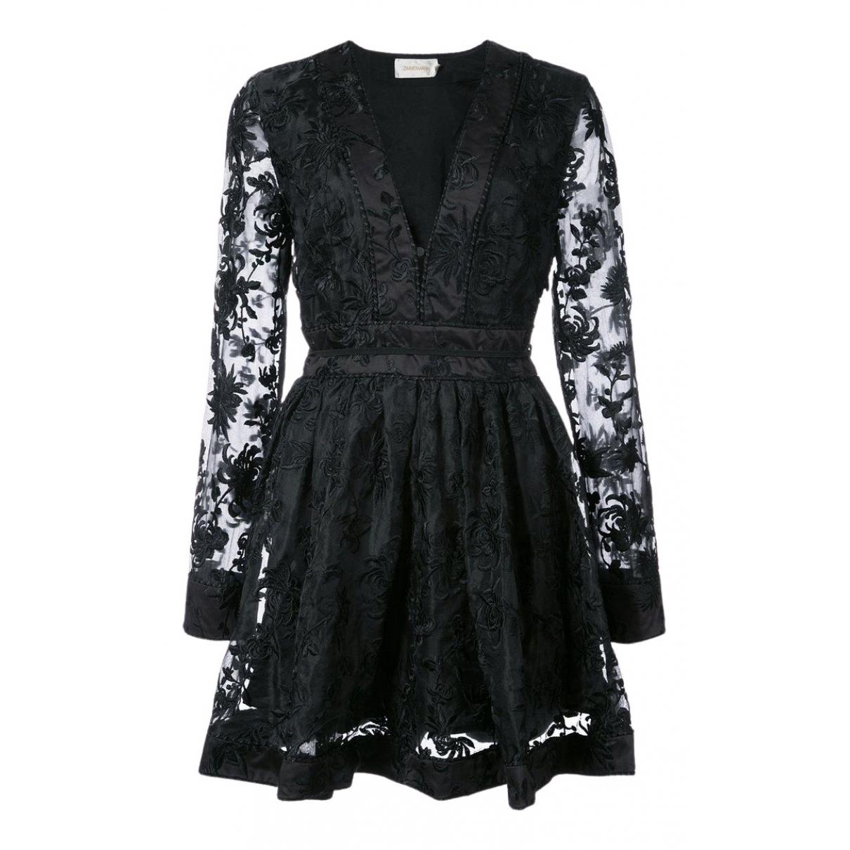 Zimmermann \N Kleid in  Schwarz Seide