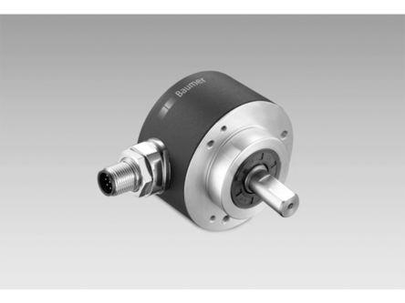 Baumer Absolute Encoder  EAM580R-SC0.7NC4.A36A1.A 6000rpm Analog 4-20 mA Solid shaft 14 → 30 V dc