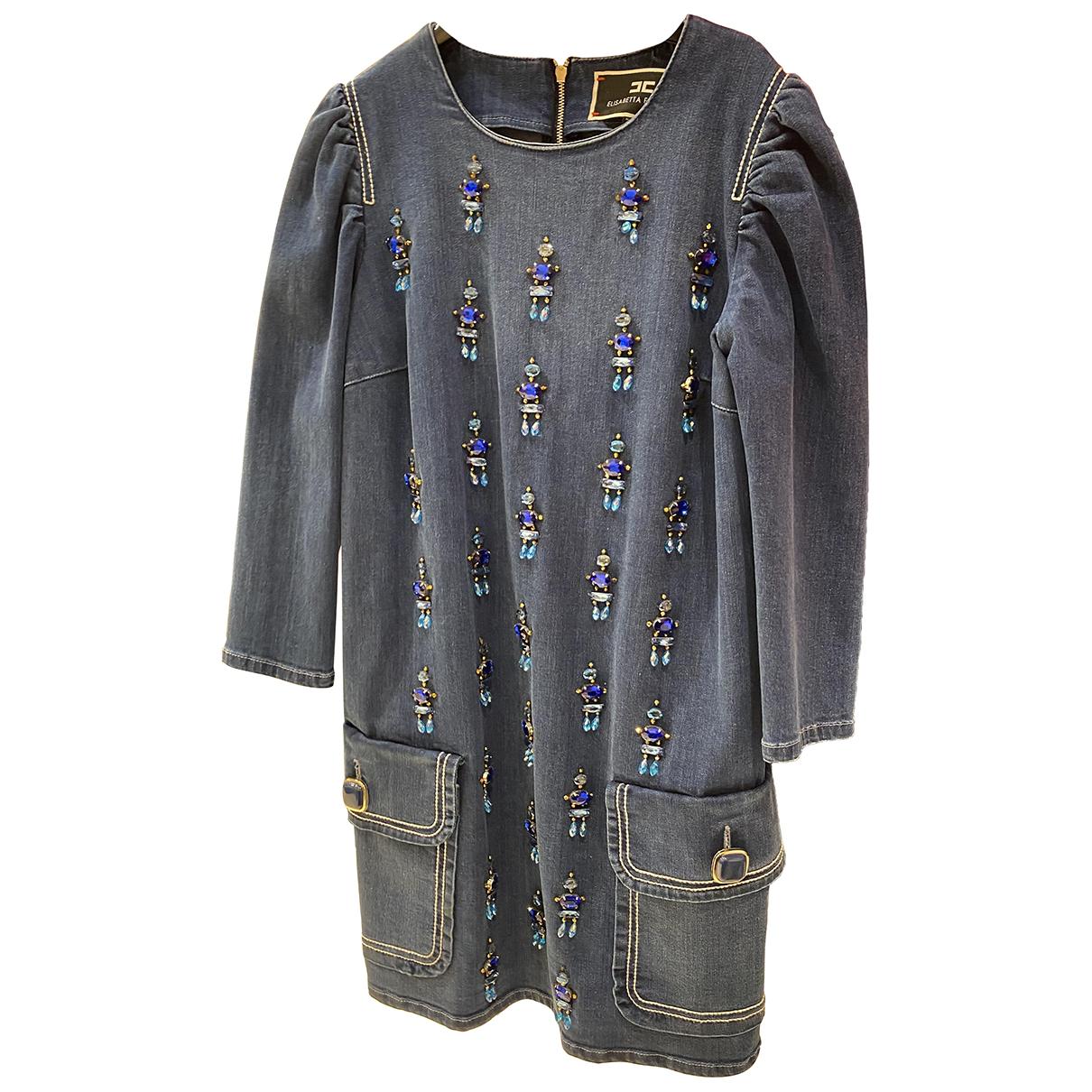 Elisabetta Franchi \N Kleid in Denim - Jeans