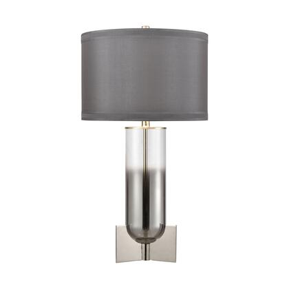 D4284 Glass Rocket Table Lamp  In Clear And