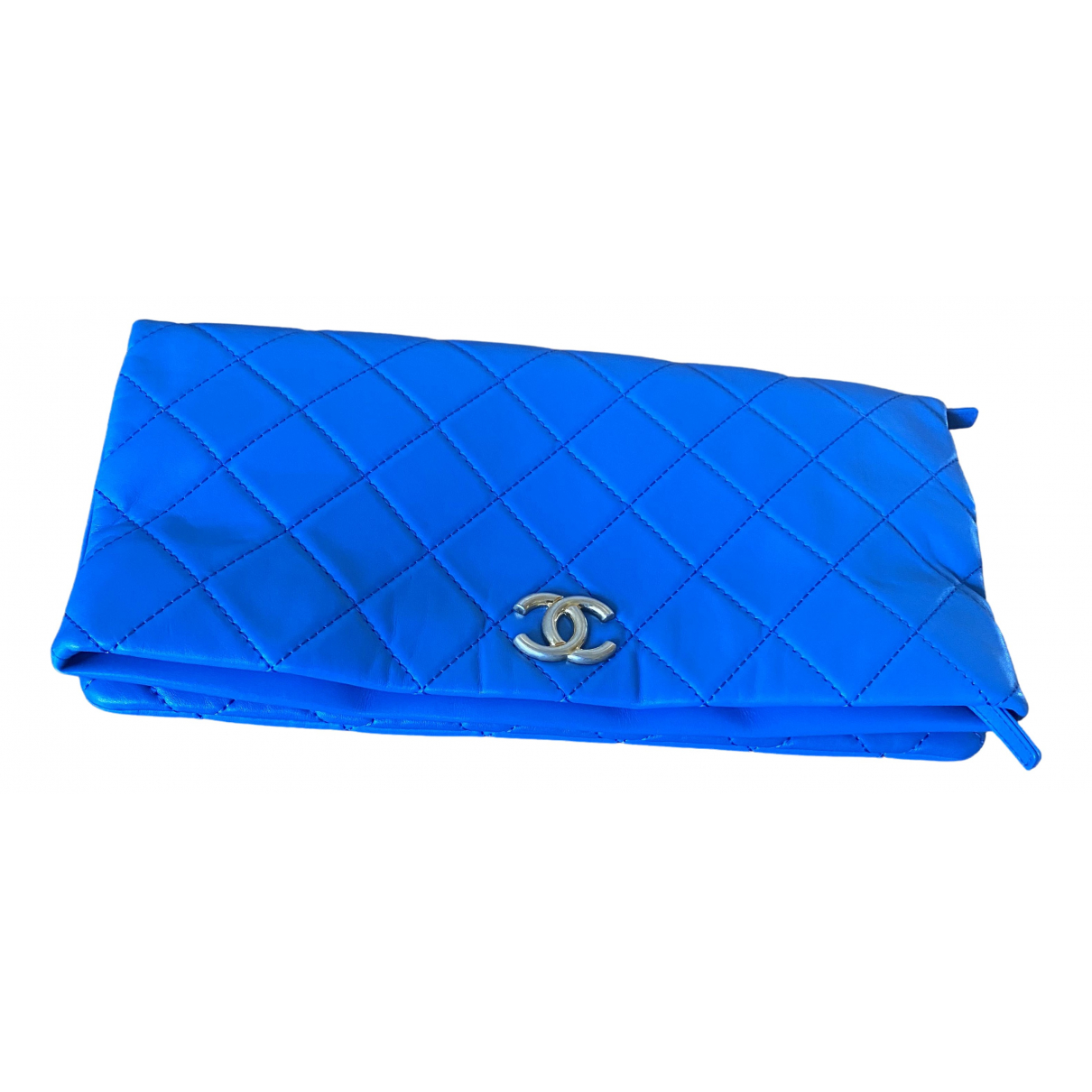 Chanel N Blue Leather Clutch bag for Women N