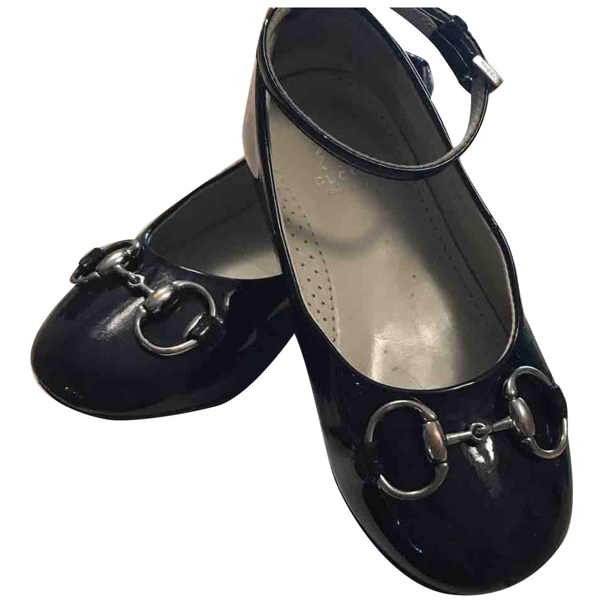 Gucci - Ballerines   pour enfant en cuir - noir