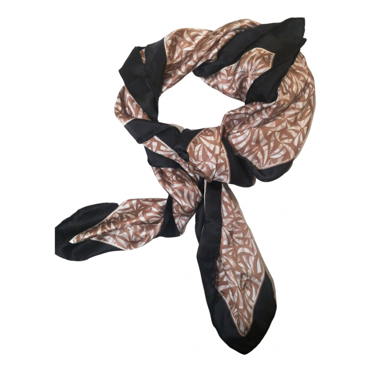 Non Signé / Unsigned N Beige Silk scarf for Women N
