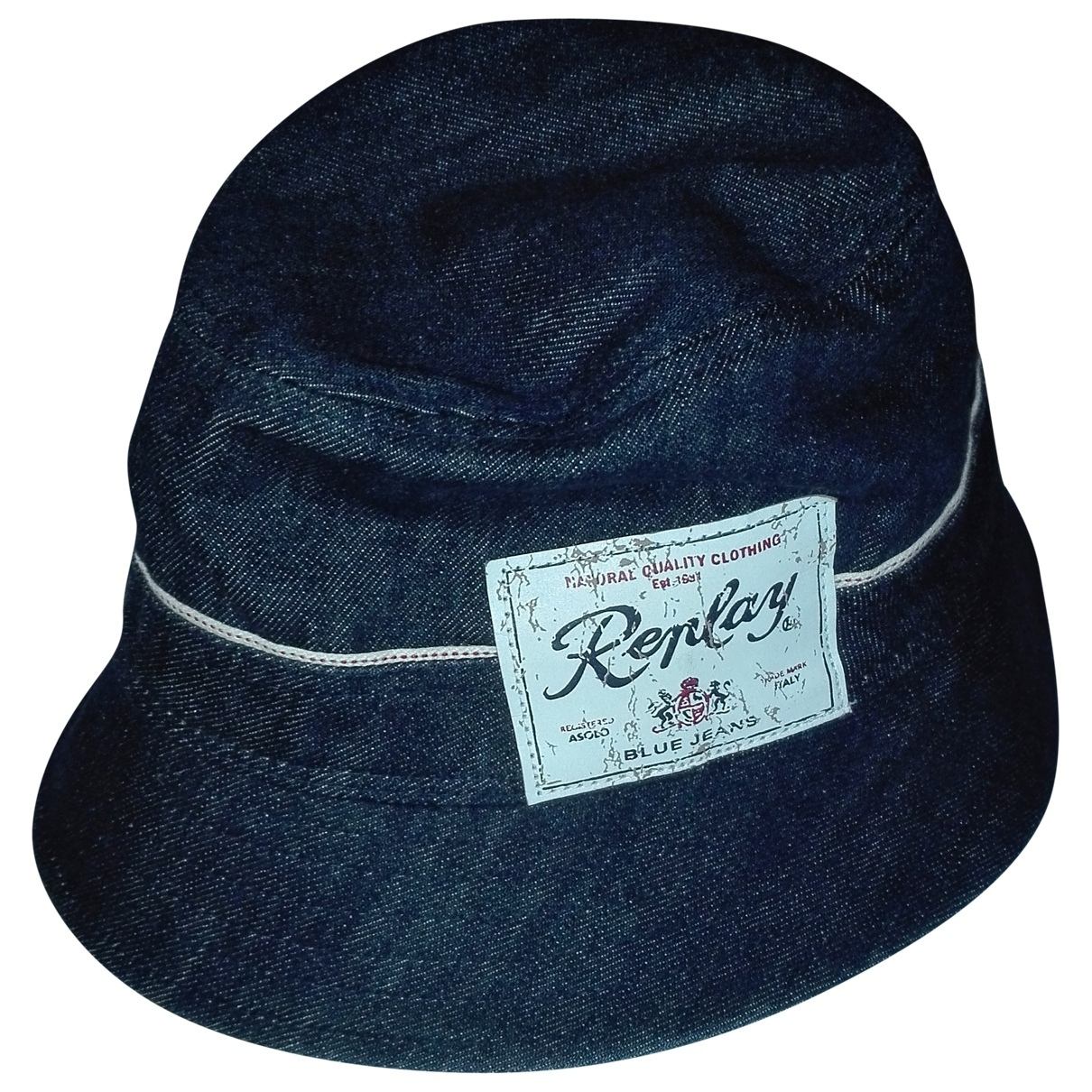 Replay \N Hut, Muetzen, Handschuhe in  Blau Baumwolle