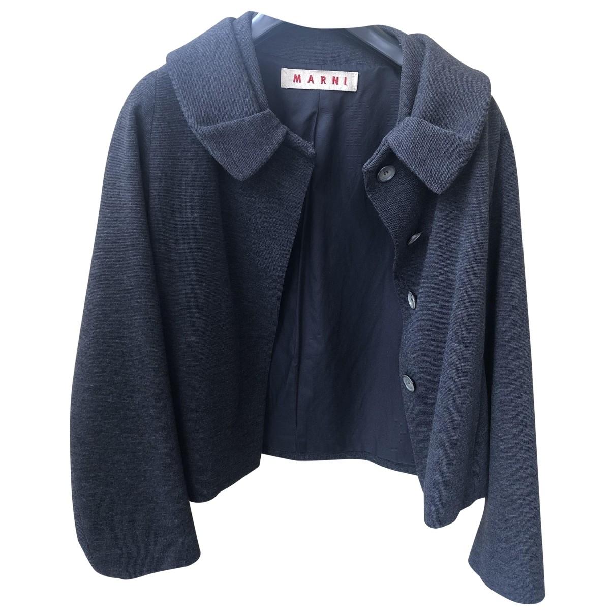 Marni \N Jacke in  Grau Wolle
