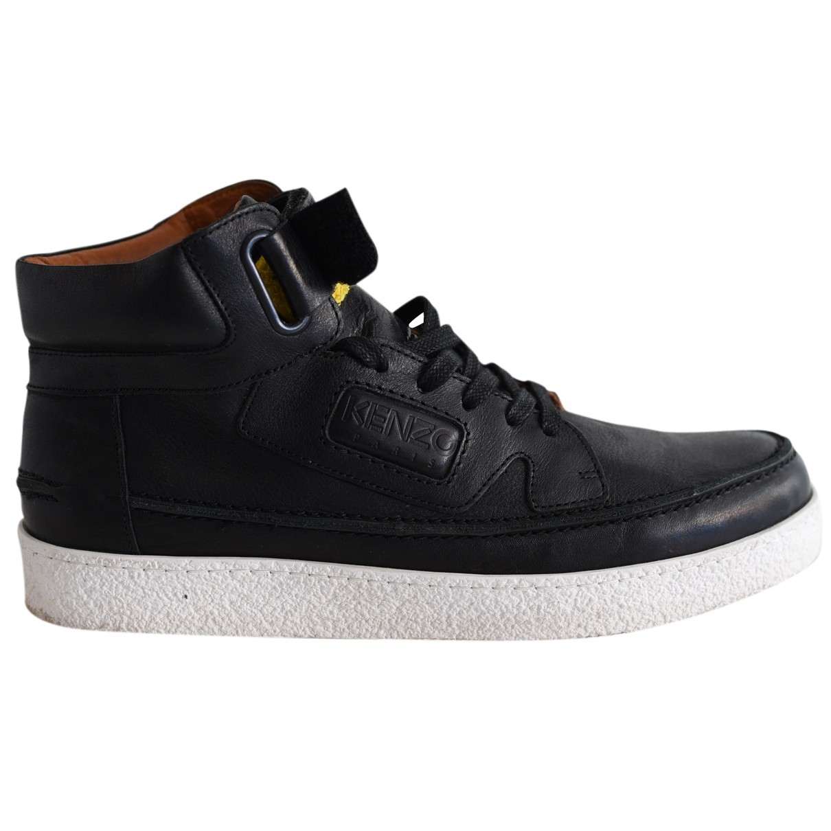 Kenzo N Black Leather Trainers for Men 43 EU