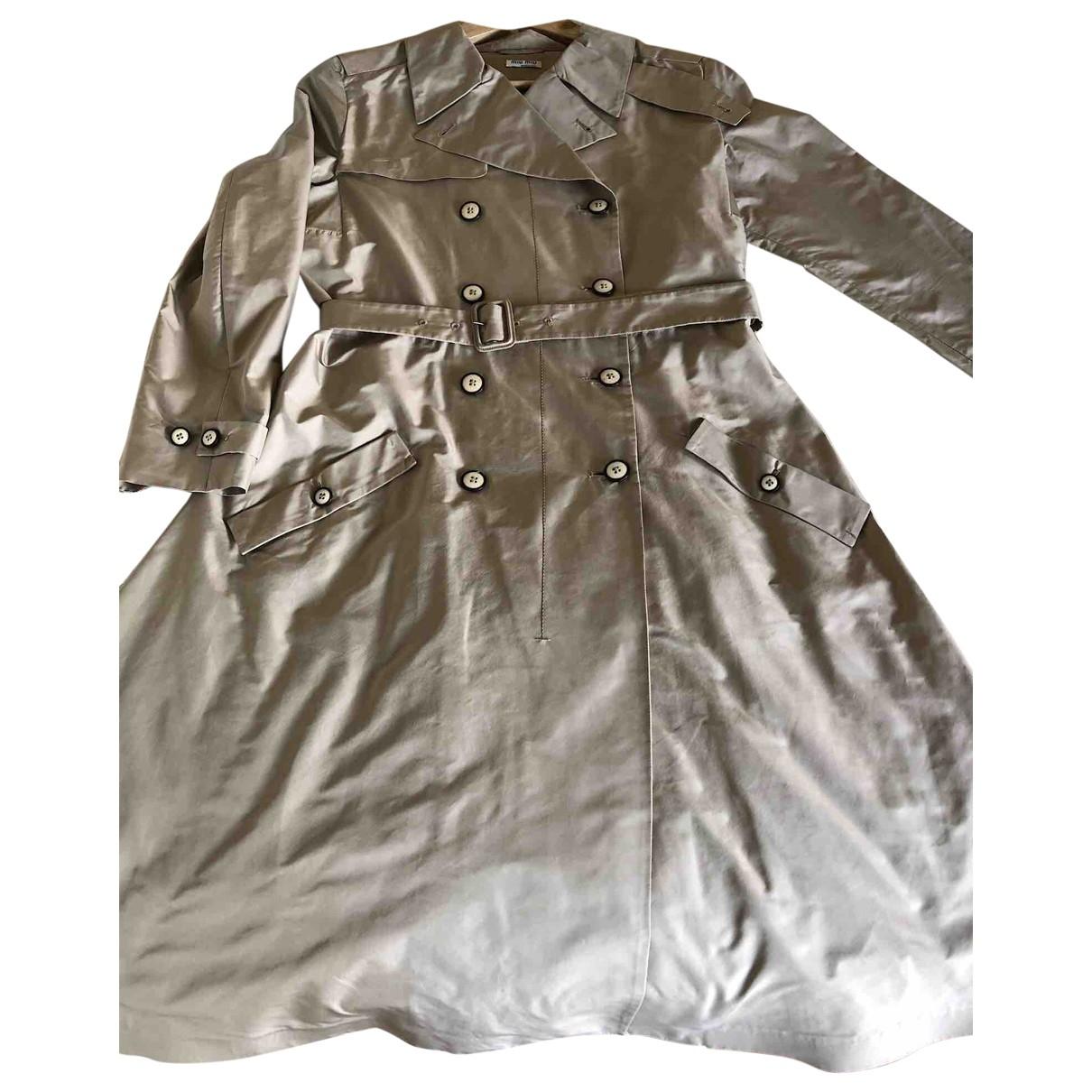 Miu Miu \N Beige Trench coat for Women 44 IT