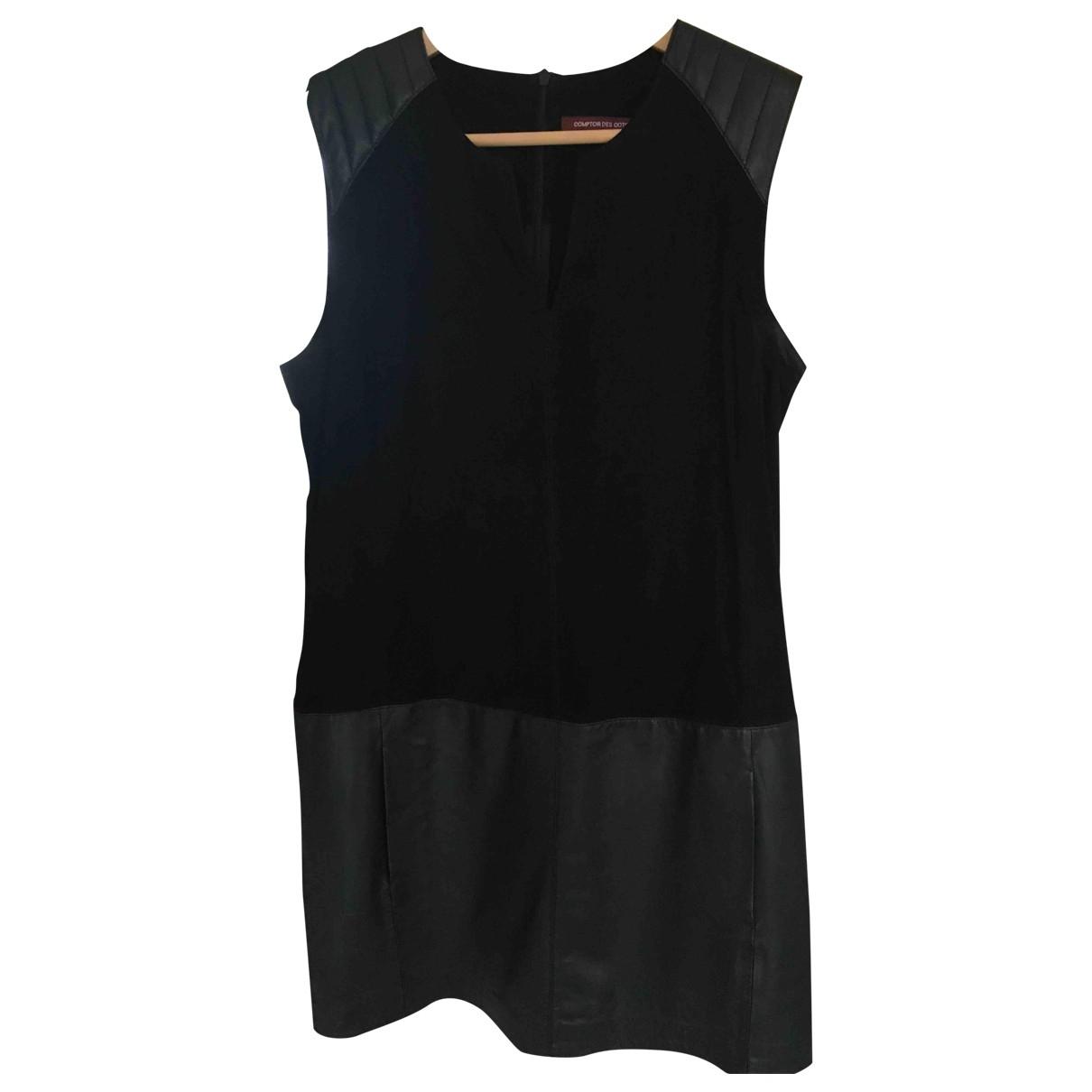Comptoir Des Cotonniers \N Kleid in  Schwarz Leder