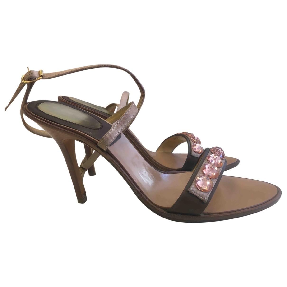 Casadei \N Beige Leather Heels for Women 7 US