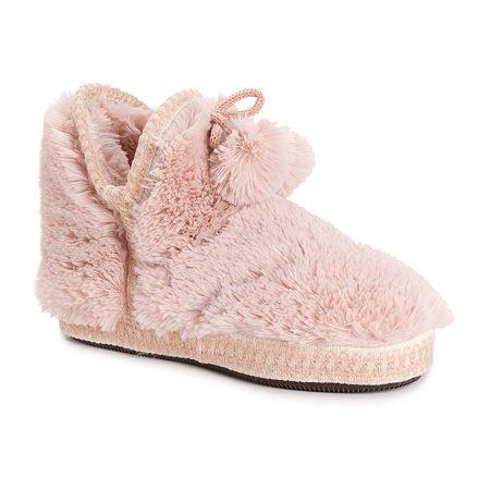 Muk Luks Erina Womens Bootie Slippers, X-large , Pink