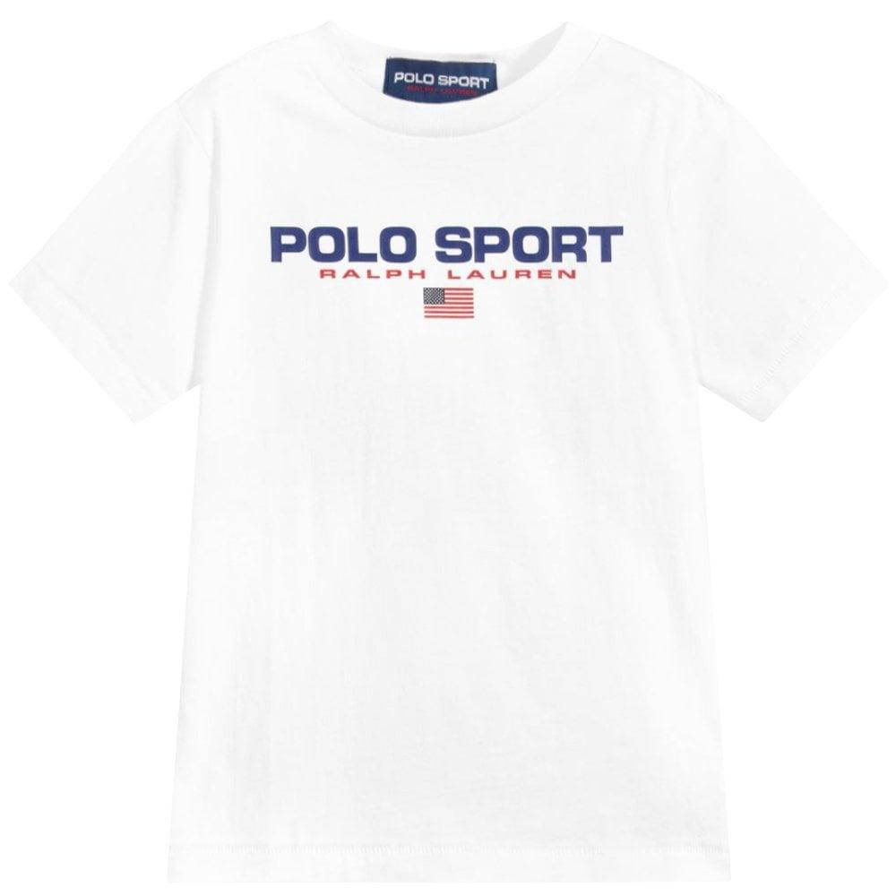 Ralph Lauren Polo Sport T-Shirt White Colour: WHITE, Size: 4 YEARS