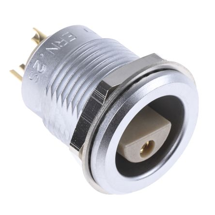 Lemo Connector, 2 contacts Panel Mount Socket, Solder
