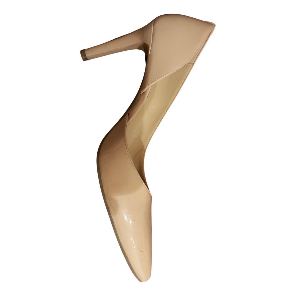 Michael Kors \N Beige Patent leather Heels for Women 39 EU