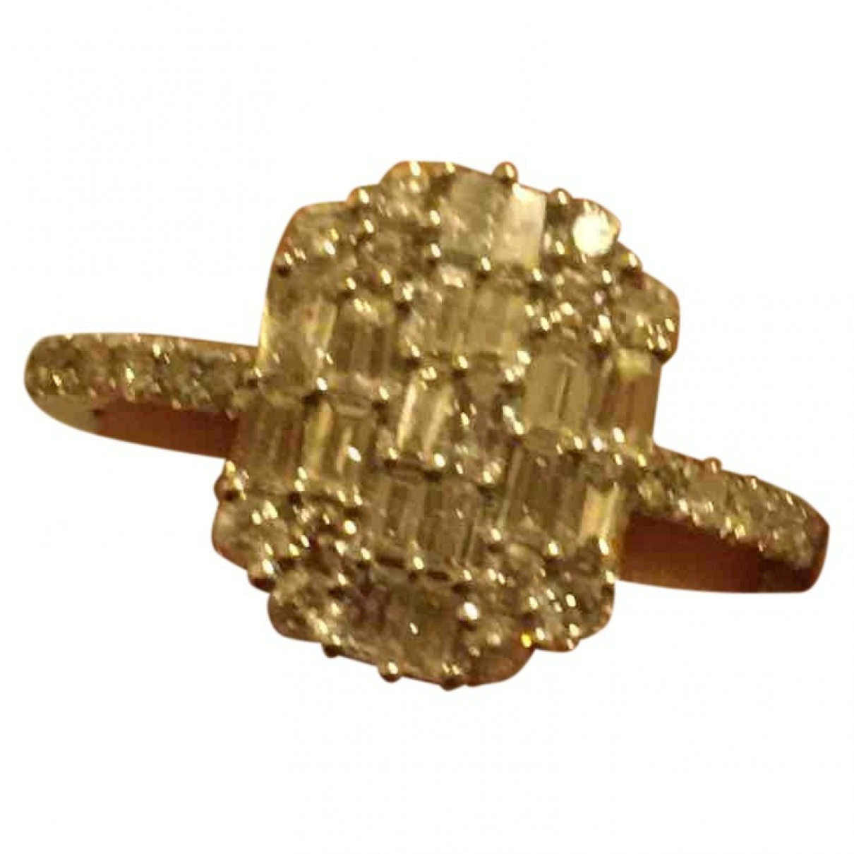 Non Signe / Unsigned Bagues Cocktails Ring in  Silber Weissgold