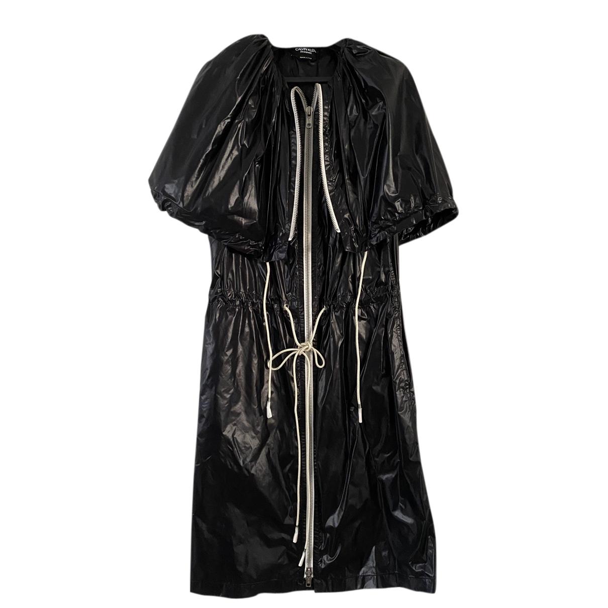 Calvin Klein 205w39nyc \N Kleid in  Schwarz Seide