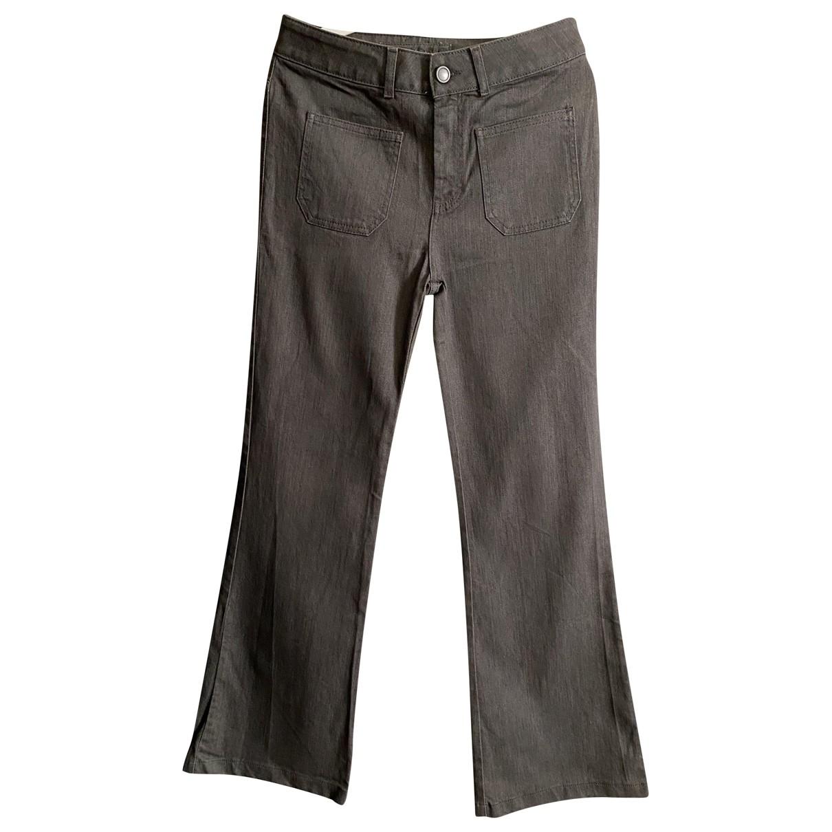 Gerard Darel \N Grey Cotton Jeans for Women 36 FR