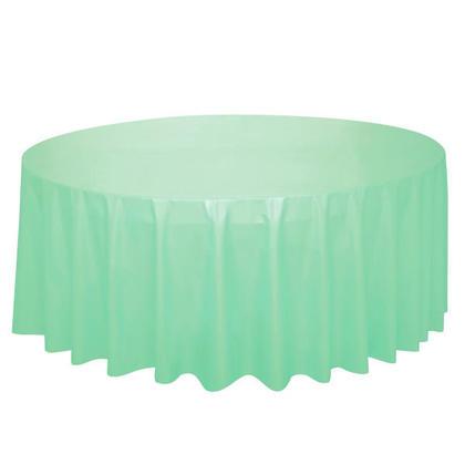Couvercle de table en plastique rond, menthe 84