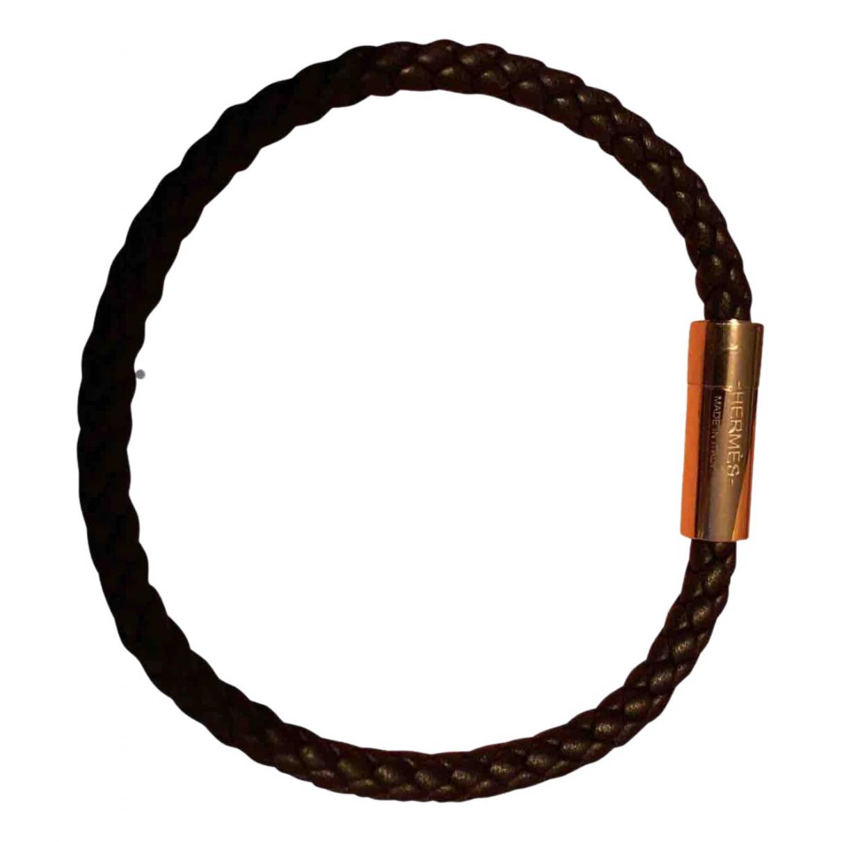 Hermes - Bijoux Goliath pour homme en cuir - noir