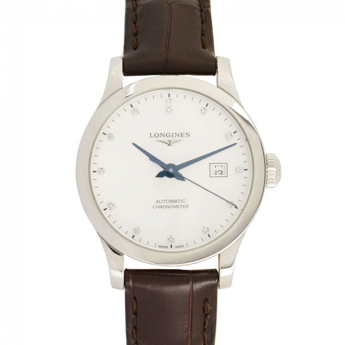 Longines \N White Steel watch for Women \N