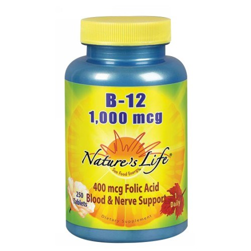 Vitamin B-12 250 tabs by Nature's Life