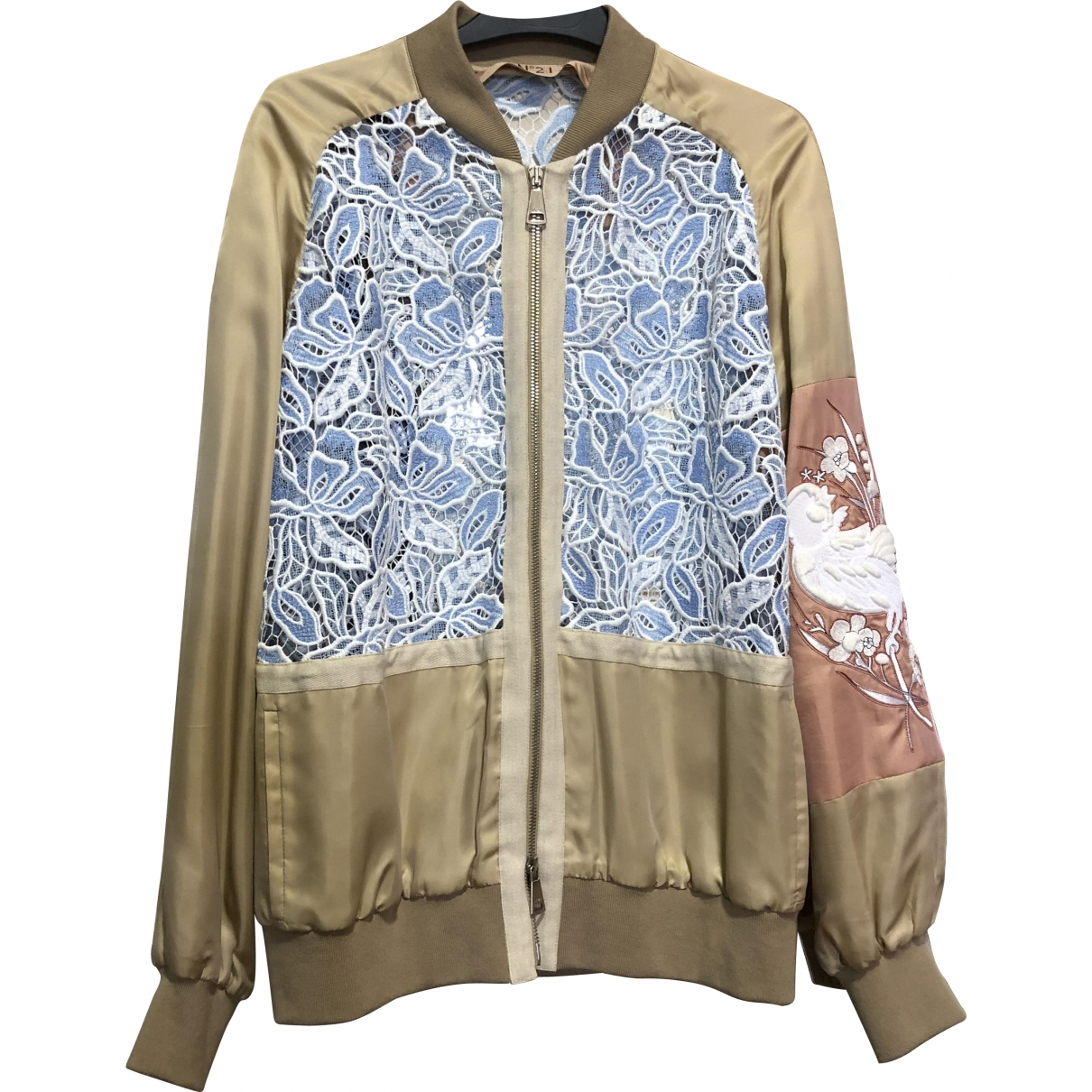 N°21 \N Multicolour Cotton Leather jacket for Women 42 IT