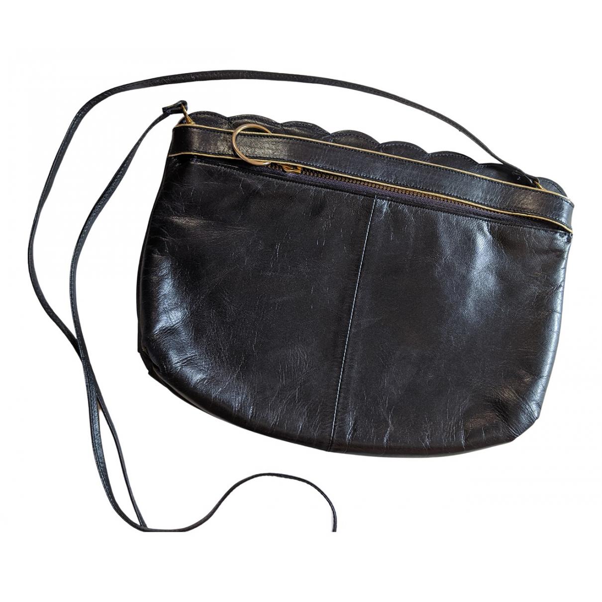 Charles Jourdan \N Handtasche in  Marine Leder