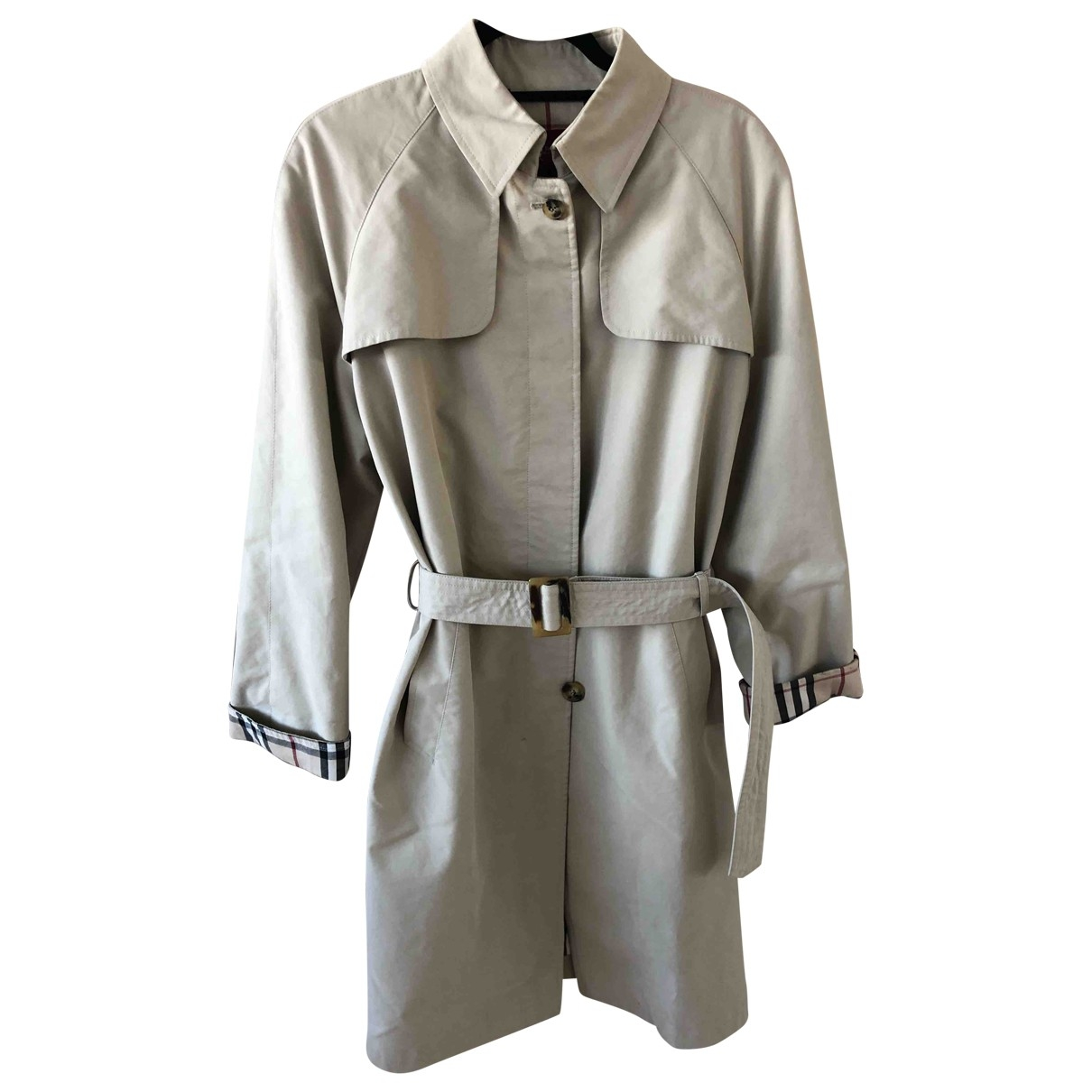 Burberry \N Camel Cotton Trench coat for Women 44 FR