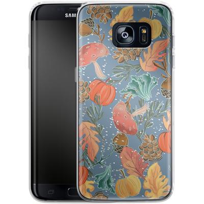 Samsung Galaxy S7 Edge Silikon Handyhuelle - Fall Woodland Blue von Mukta Lata Barua